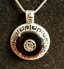 Asian Black and Silver 925 Necklace Pendant...