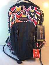 NEW With Tags Jansport Beacon Backpack, Navy Water Colored Chevron (A2T3B0JB)