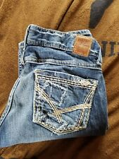 BKE womens  Skinny  Jeans Size 26 Mint Cond FACTORY DISTRESSED