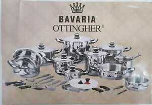 BATTERIA PENTOLE BAVARIA OTTINGHER LINEA GURMET 36 PEZZI ACCIAIO INOX 18/10