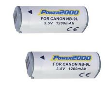 2 NB-9L Batteries NB-9L for Canon SD4500 IS ELPH 510 HS ELPH 520 HS 530 HS