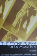 "40x60"" HUGE SUBWAY POSTER~Stone Roses 10 Storey Love Song 1994 Second Coming NOS"