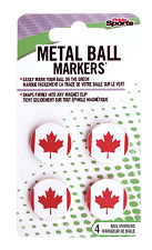 PrideSports Metal Ball Markers with Canadian Flag