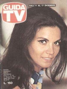 GUIDA TV 1977 N.50 FLORINDA BOLKAN LAURENCE OLIVIER SANDRA MONDAINI TV PRIVATE