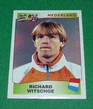 N°88 RICHARD WITSCHGE NEDERLAND PANINI FOOTBALL UEFA EURO 96 EUROPE EUROPA 1996