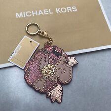 MK Handbag Charm Michael Kors Hang Tag Flower Key Fob Valentine Gift RRP£60 PINK