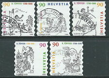 1999 SVIZZERA USATO TOPFFER 5 VALORI - CZ11-7