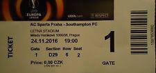 TICKET UEFA EL 2016/17 Sparta Prag - Southampton FC
