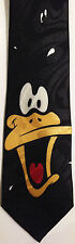 DAFFY DUCK NECKTIE NEW TIE CRAZY WILD BLACK DUCKY WB WARNER  BROS CARTOONS PIC