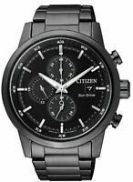 Citizen Eco-Drive Men's Chronograph Black Multi Dial 43mm Watch CA0615-59E