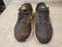 Men's NIKE Downshifter 7 Running Shoes Size 9 Grey Gray Green Free Shipping