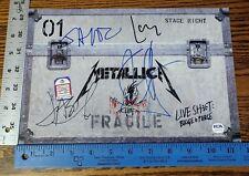 Metallica Signed Binge & Purge Promo Psa Letter James Kirk Lars Jason