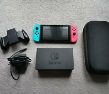 Nintendo Switch Red/ Blue Console - with case