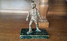 Antique Vtg Original Bronze Toy Sculpture - Dickens?