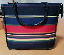 Kate Spade New York Multi Color Stripes Canvas Handbag  bag
