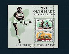 Togo bloc  jeux olympiques de Montréal  de 1976 surchargé    num:  99   **