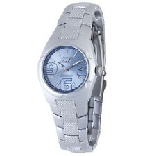 Chronotech Women's CC.7039L/01M Luminous Blue Dial Aluminium Wristwatch