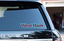 """West Ham Westham Ciudad De Londres Ciudad Ventana/Parachoques Pegatinas/Calcomanías 2 Pack 8"""""""