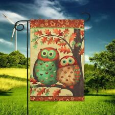 New listing Garden Flag Indoor Outdoor Home Decor Christmas Owl Tree Branch Flags 100x70cm