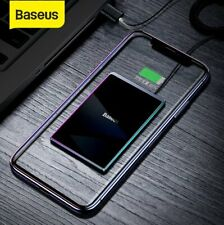 Baseus Ultra Thin 15W Qi Wireless Charger Fast Charging Pad Mat for Samsung LG