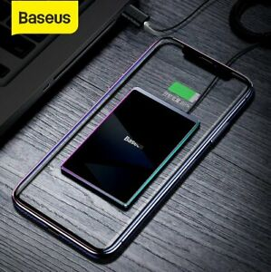 Baseus Ultra Thin 15W Qi Wireless Charger Fast Charging Pad for iPhone 12 Mini