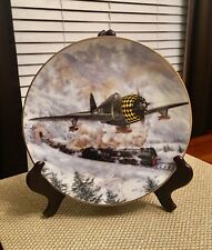 """Awesome 1996 Pva Collector Plate """"The Thunderbolt� by David Wayne Russell Mint"""