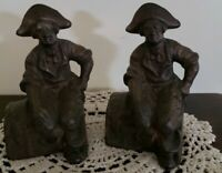 Vintage ~ Antique ~ Two (2) Heavy Brass ~ Pirate ~ Treasure Chest Bookends