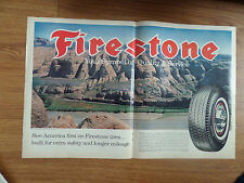 1964 Firestone Tire Ad See American 1st  Shows The Colorado River near Moab Utah