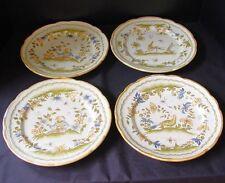 Vintage Decorative set of 4 Plates ~ Vieux Moustiers 18th c. Reproduction