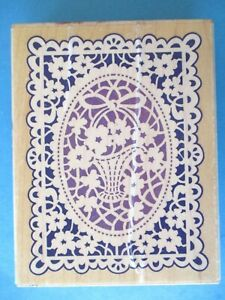 CARD SIZE DOILY Rubber Stamp LACE Stampendous