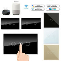5pcs 1/2/3 Gang Smart WiFi Touch Wall Light Switch US/EU Panel for Alexa Google