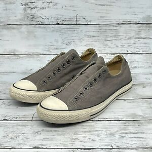 Converse All Star Gray Denim Material No Lace Slip on Sneakers  8.5M | 10W