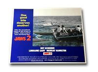 """JAWS 2"" ORIGINAL 11X14 AUTHENTIC LOBBY CARD POSTER PHOTO 1980 SPIELBERG"
