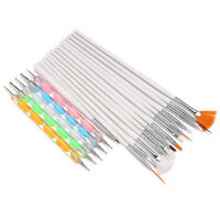 Kit 20 pinceaux Dotting Tool pour nail art ongle D8G4