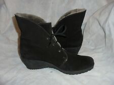 MEPHISTO AIR-JET WOMEN BLACK SUEDE LEATHER  ANKLE BOOT SIZE UK 7 EU 41 US 9 VGC