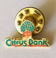 First Citrus Bank Finance Brand Small Advertising Pin Badge Rare Vintage (H8)