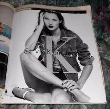1995 Near Mint Print Ad Poster Calvin Klein Jeans Foldout B&W Photos