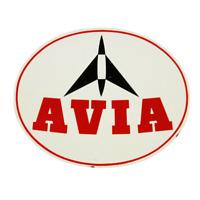 Avia Zapfsäulen Emailschild Tankstelle Werbung Petromobilia oval 50er 60er