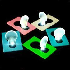 Fashion Mini Portable Wallet Pocket Credit Card Size LED Night Light Lamp Bulbs
