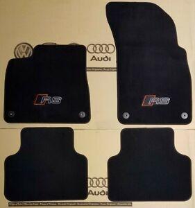 Audi Q8 original RS Matten RSQ8 Fußmatten Veloursmatten Stoffmatten Textilmatten