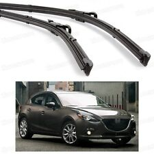 "24"" 18"" 2Pcs Car Windscreen Wiper Blade Bracketless Fit for Mazda 3 2014-2016"