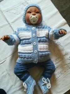 Reborn Baby Garnitur,  Ausfahrgarnitur  , 3 tlg. Größe 50 - 56 Neu,
