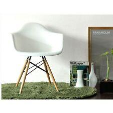 Eames Style DSW Arm Chair wood dowel base Eiffel Molded Arm Chair Wood Leg
