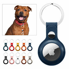 For Apple Air Tag Case Genuine Leather Protective Shell Cover AirTags Keychain