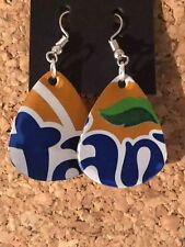 Fun, Unique, Handmade Earrings - made from a Fanta can