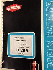 International harvester  Yumbo D-358 Diesel Engine Parts Catalog 4 language