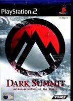 PLAYSTATION 2 DARK SUMMIT GAME PS2 GAMING SNOW BOARDING SPORTS PAL ADVENTURE
