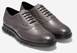 COLE HAAN Zerogrand WINGTIP OXFORD Men's Burnished Pavement Leather C30720