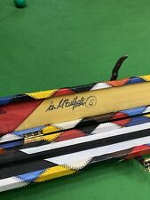 Signed 1pc One Piece Snooker Pool Cue Case Leather Rare Paul Hunter, Ken Doherty