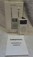 Eton Grundig Mini 300PE Handheld AM/FM/Shortwave Radio ~ White- Tested & Works